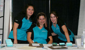 Carrie Deslippe and Erin Flood at the 2009 Windsor Ladies Expo